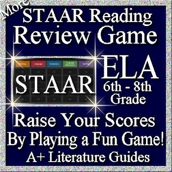 STAAR ELA Reading Review Game VIII Grades 6 - 8