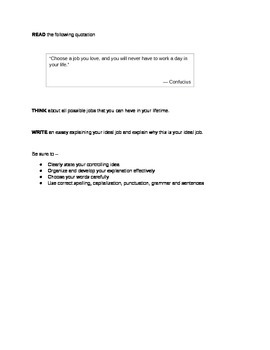 STAAR Expository Writing Prompts