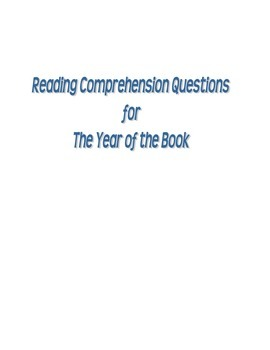 STAAR Reading Quiz for The Year of the Book by Andrea Cheng