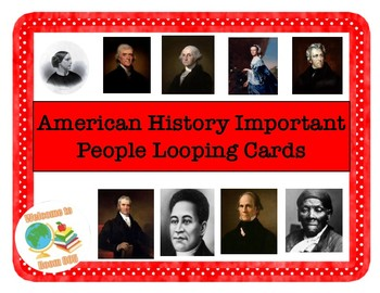 STAAR Important People Looping Cards