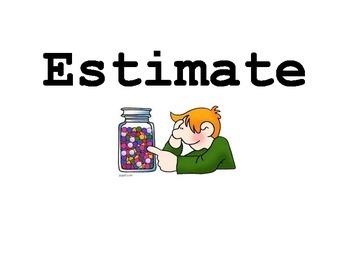 STAAR Math 3rd Grade Large Vocabulary Card Set (3-5)