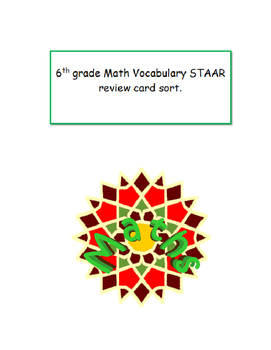 STAAR  Math Vocabulary review 6th grade