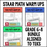 STAAR Math Warm Ups 6th-8th Grade Bundle