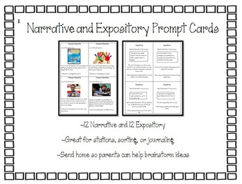 STAAR Narrative and Expository Prompt Cards
