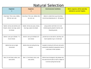 STAAR PREP- Natural Selection