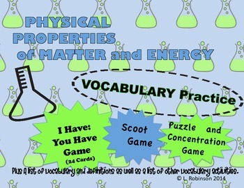 STAAR 5th Grade SCIENCE REVIEW Games Physical Properties o