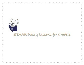 STAAR Poetry Lessons for Grade 3