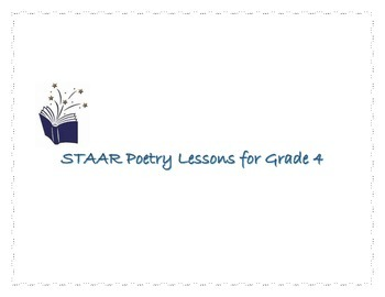STAAR Poetry Lessons for Grade 4