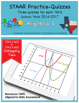 STAAR-Practice Quiz, Category 2, TEKS A.3(F) & A.3(G)