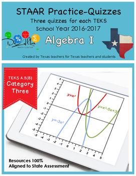 STAAR-Practice Quiz, Category 3, TEKS A.5(B)