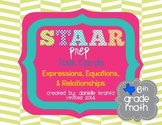STAAR Prep Math Task Cards Expressions, Equations, and Rel