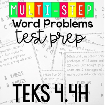 STAAR Readiness Test Prep Task Cards 4th NEW TEKS 4.4H