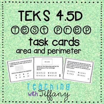 STAAR Readiness Test Prep Task Cards 4th NEW TEKS 4.5D