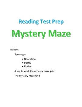 Reading Activity Game Test Review Treasure Hunt Maze