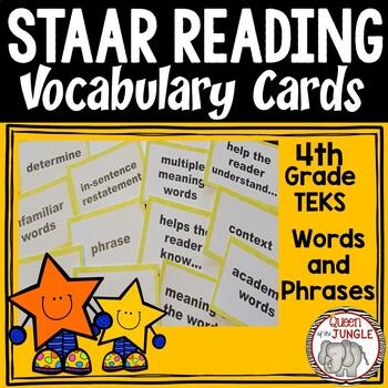 STAAR Reading Vocabulary 4th Grade