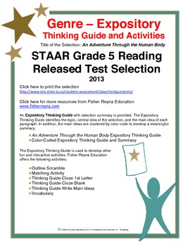 STAAR Release Analysis & Activities: An Adventure Through