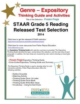 STAAR Release Analysis & Activities: Frozen Frogs, Grade 5