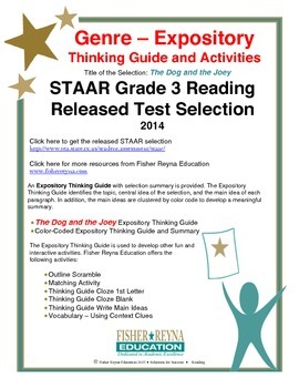 STAAR Release Analysis & Activities: The Dog and the Joey,