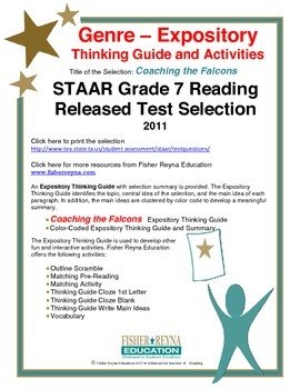 STAAR Release Analysis & Activities: Coaching the Falcons,
