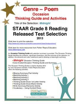 STAAR Release Analysis & Activities: Midnight, Grade 8