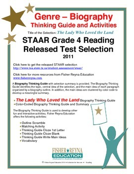 STAAR Release Analysis & Activities: The Lady Who Loved th