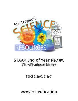 STAAR Review: Classifying Matter