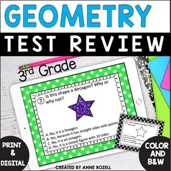 Geometry-Grade 3  (24 task cards)