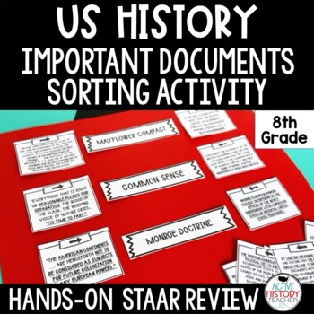 STAAR 8th Social Studies Review - Important Document Sort