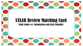 STAAR Review Matching Card #1