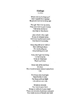 STAAR Review Poetry #1