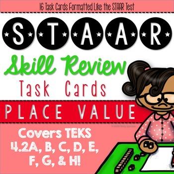 STAAR Review Task Cards {TEKS 4.2A, 4.2B, 4.2C, 4.2D, 4.2E
