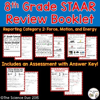 STAAR Science Review Booklet - Force, Motion, and Energy