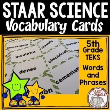 STAAR Science Vocabulary 5th Grade