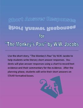 """STAAR Short Answer Practice using """"The Monkey's Paw"""""""