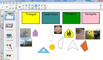 STAAR Spanish Geometry Vocabulary Games Smart Notebook