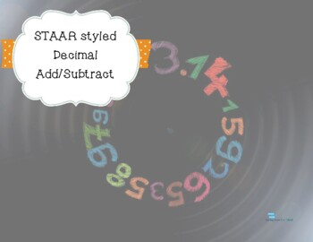 STAAR Styled Decimal Questions