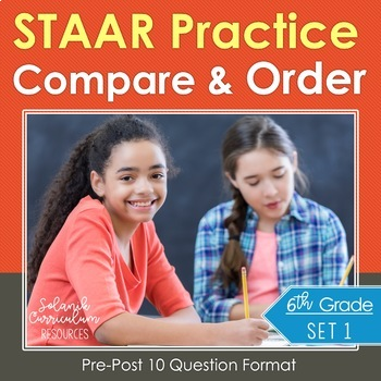 6th Grade Math Test Prep Compare & Order Rational Numbers