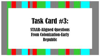 STAAR Task Card #3: STAAR-Aligned Questions-Colonization t
