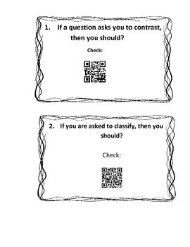 STAAR Vocabulary Task Cards