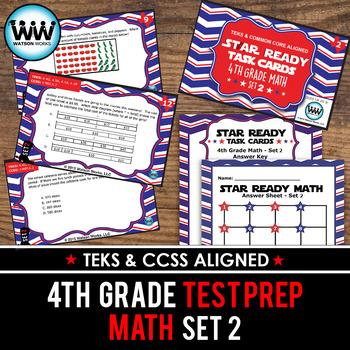 STAAR WARS 4th Grade Math Task Cards ~ SET 2