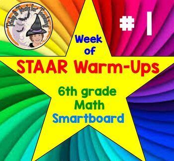 STAAR Warmups Math Grade 6 Test Prep Warm Ups for STAAR Sm