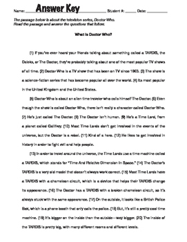"STAAR Writing Passage — ""DOCTOR WHO"""