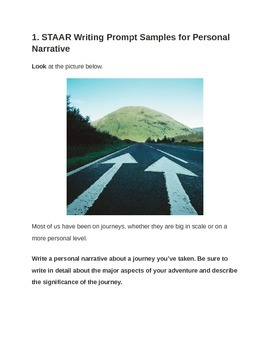STAAR Writing Personal Narrative Prompts