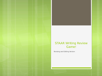 STAAR Writing Reveiw Game: Revising and Edititing Practice