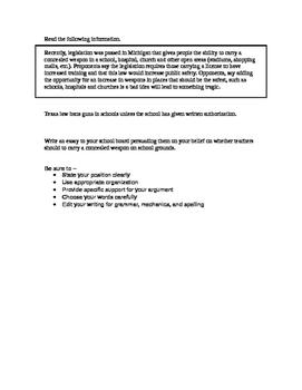 STAAR persuasive essay topic