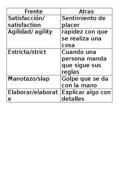 STAAR reading Spanish Vocabulary Part 2