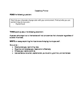 STAAR-style Expository Prompts