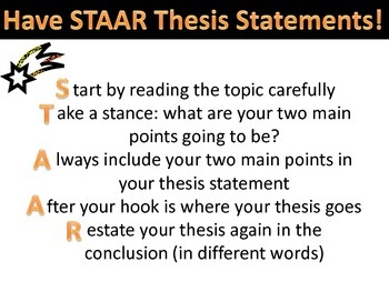 STAAR Thesis Statements Handout/Poster