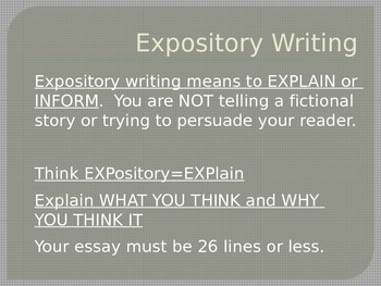 STAAR/EOC Expository Writing PowerPoint