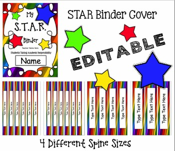 STAR Binder Cover & 4 Different Sized Spines